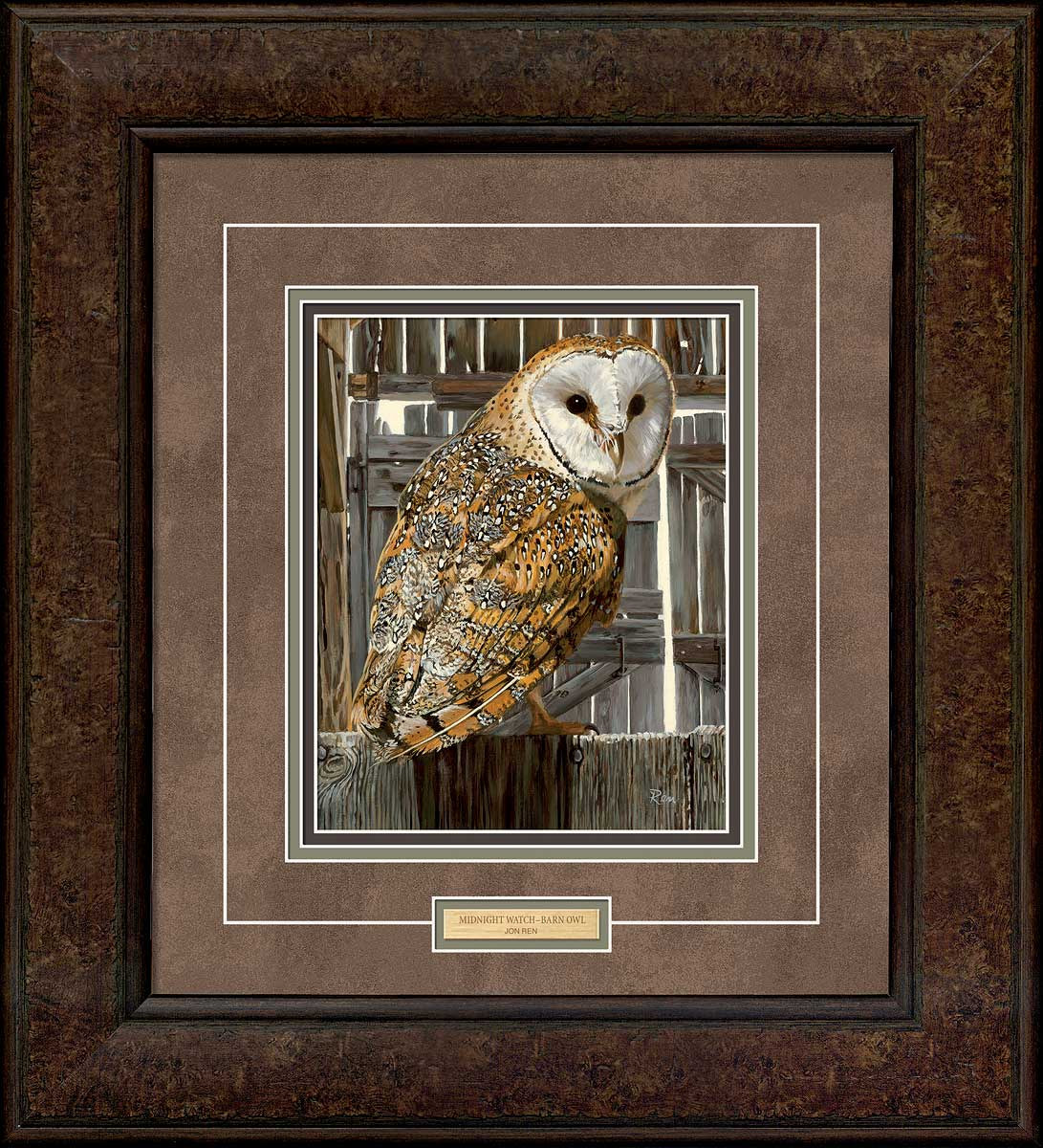 Midnight Watch-Barn Owl Art Collection