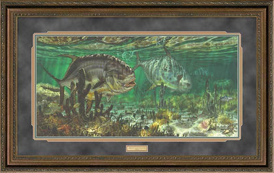 Prowling Permit Framed Limited Edition Print<Br/>27.5H X 43.5W Art Collection