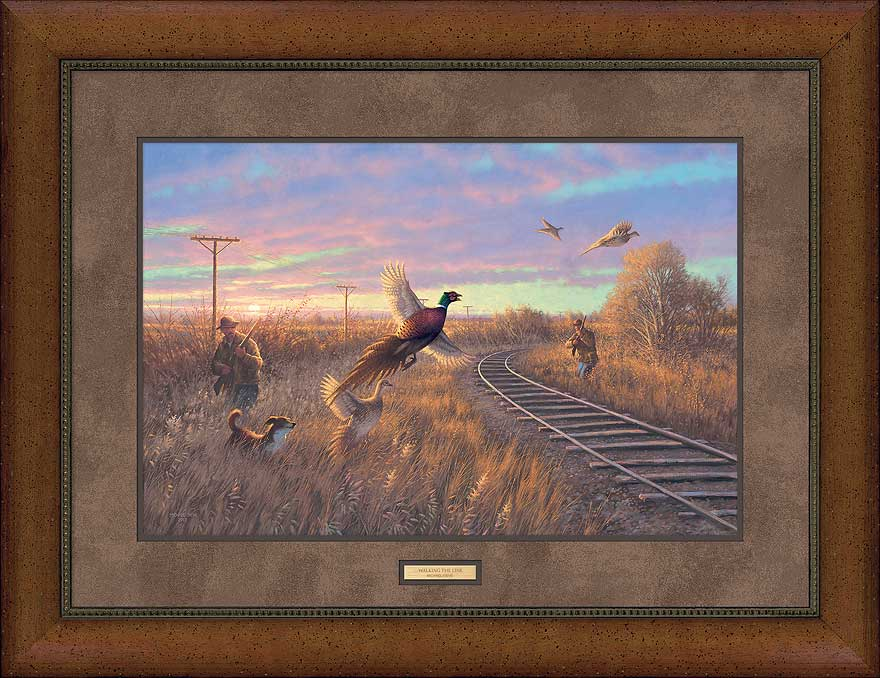 Walking the Line-Pheasant Art Collection
