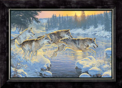 Through the Woods-Wolves Art Collection