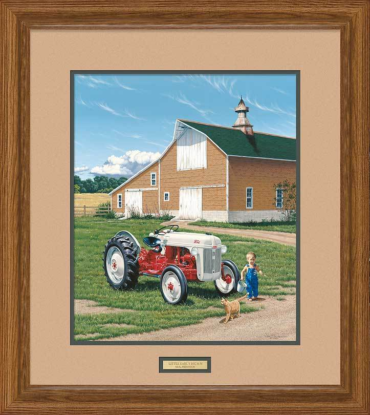 <I>Little Earls Big 8N&mdash;tractor</i> Framed Limited Edition Print<Br/>28H X 25W Art Collection