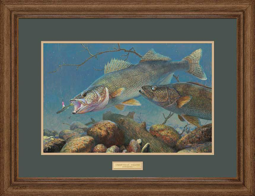 Under the Ice-Walleyes Art Collection