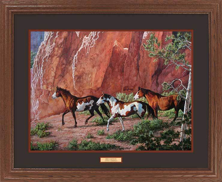 <I>Red Canyon&mdash;horses</i> Gna Premium Framed Print<Br/>25H X 31W Art Collection