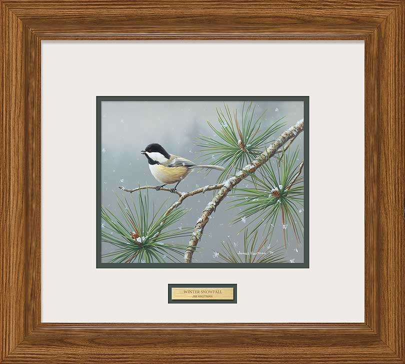 <i>Winter Snowfall&mdash;Chickadee</i>