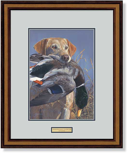 Prize Possession-Yellow Lab Art Collection