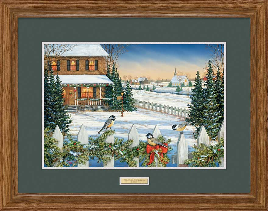 Yuletide-Chickadees Art Collection