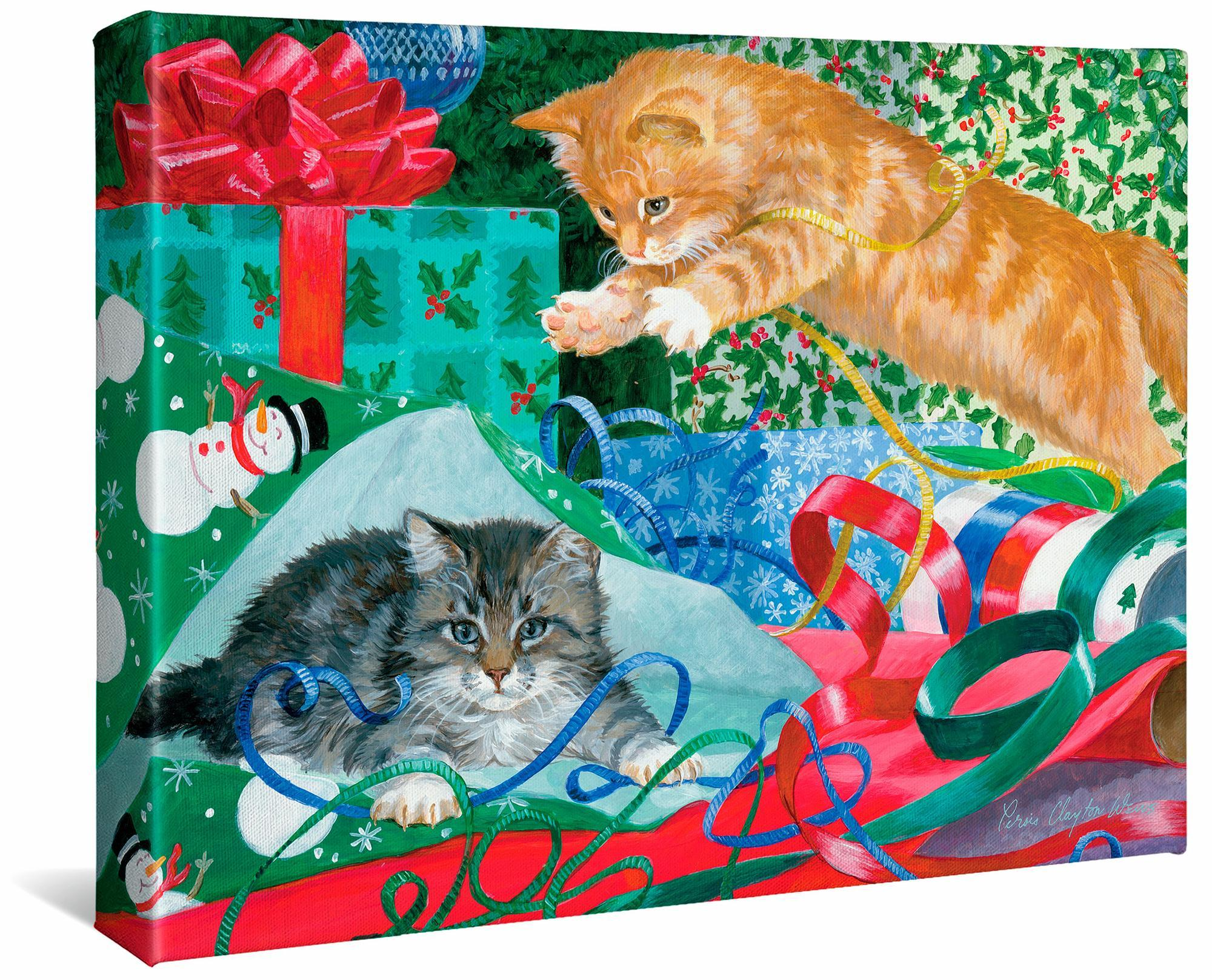 Free Gift Wrap-Kittens Gallery Wrapped Canvas