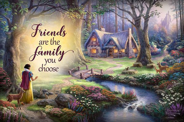 <I>Friends Are The Family You Choose</i> 12 X 18 Wood Sign