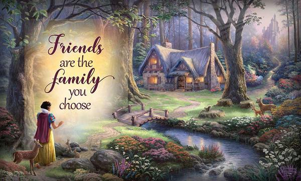 <I>Friends Are The Family You Choose</i> 18 X 30 Wood Sign