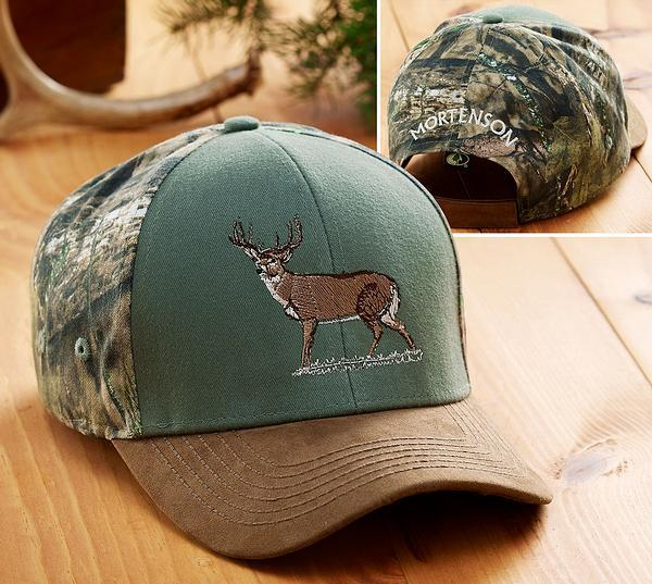<I>Whitetail Deer</i> Personalized Camo Hat