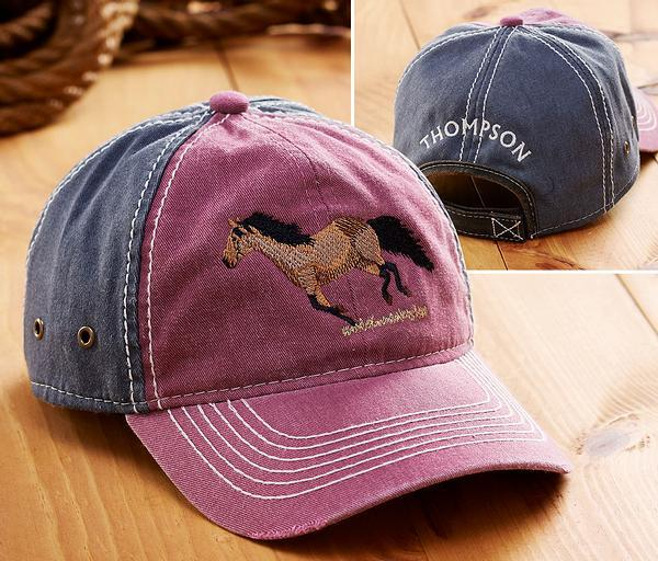 <I>Galloping Horse</i> Personalized Cap