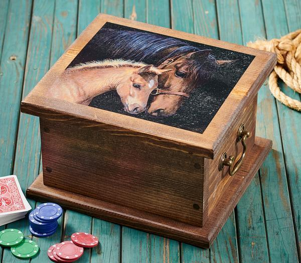 <I>Gentle Touch&mdash;horse</i> Storage Chest