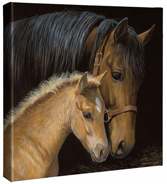 <I>Gentle Touch&mdash;horses</i> Gallery Wrapped Canvas