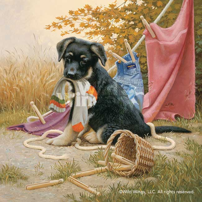 Hanging Out-German Shepherd Puppy Art Collection