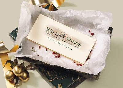 Wild Wings Gift Certificates