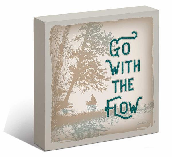 <I>Go With The Flow</i> 6 X Box Art Sign