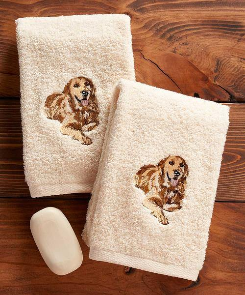 Golden Retriever Hand Towel