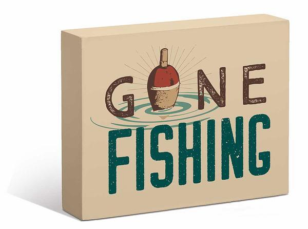 Gone Fishing 7 X 9 Box Art Sign