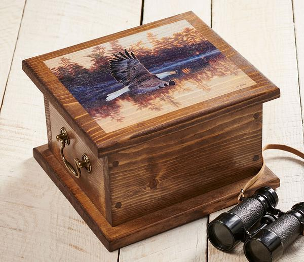 <I>Gone Fishing&mdash;eagle</i> Storage Chest