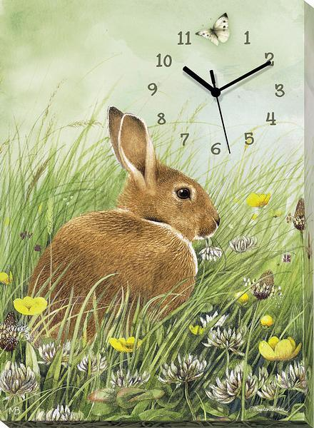 <I>Grabbing A Bite&mdash;bunny</i> Canvas Clock