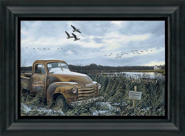 Grandpas Old Truck Personalized Framed Canvas