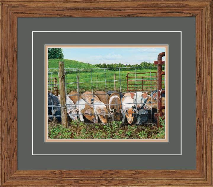 Hamming It Up—pigs Gna Deluxe Framed Print