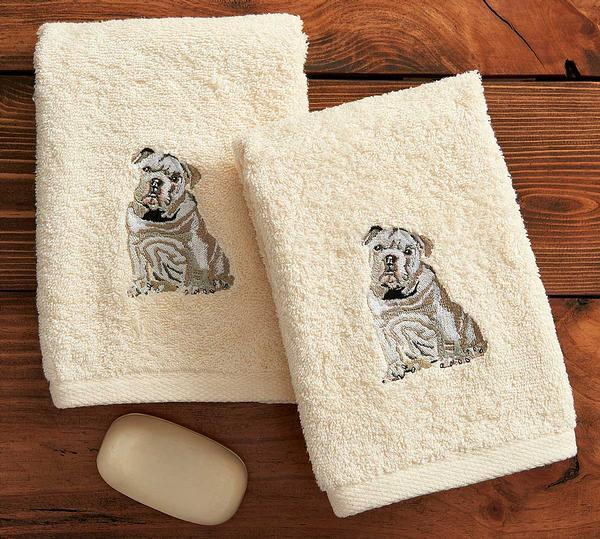 Bulldog Hand Towels