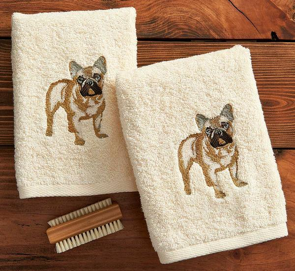 French Bulldog Hand Towels