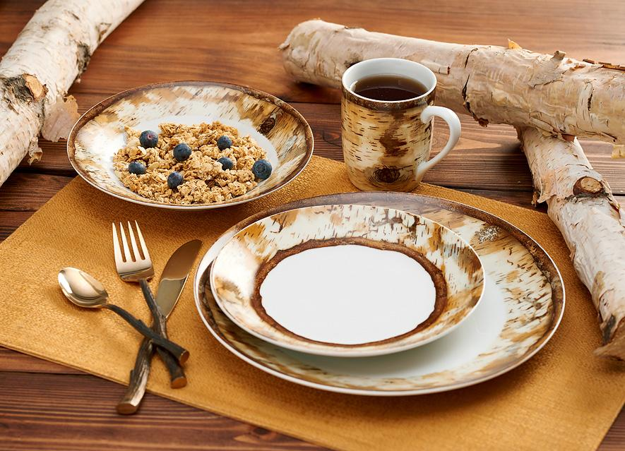 Hardwood Forest Dinnerware Set