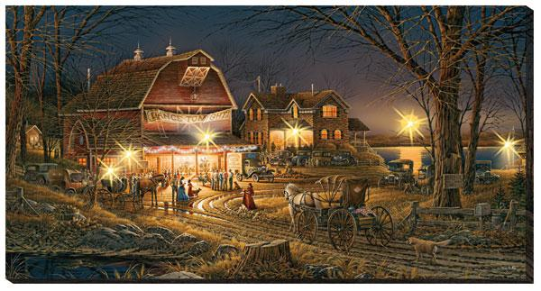 <I>Harvest Moon Ball</i> Lighted Wrapped Canvas
