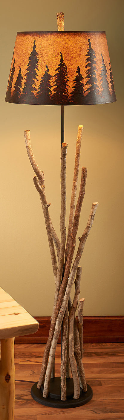 Hickory Twig Floor Lamp