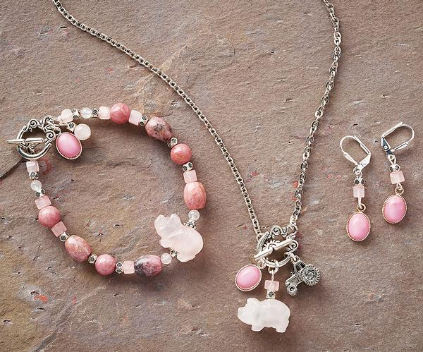 Hog Heaven Necklace, Earrings & Bracelet