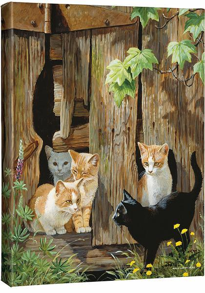 <I>Hole In The Wall Gang&mdash;kittens</i> Gallery Wrapped Canvas