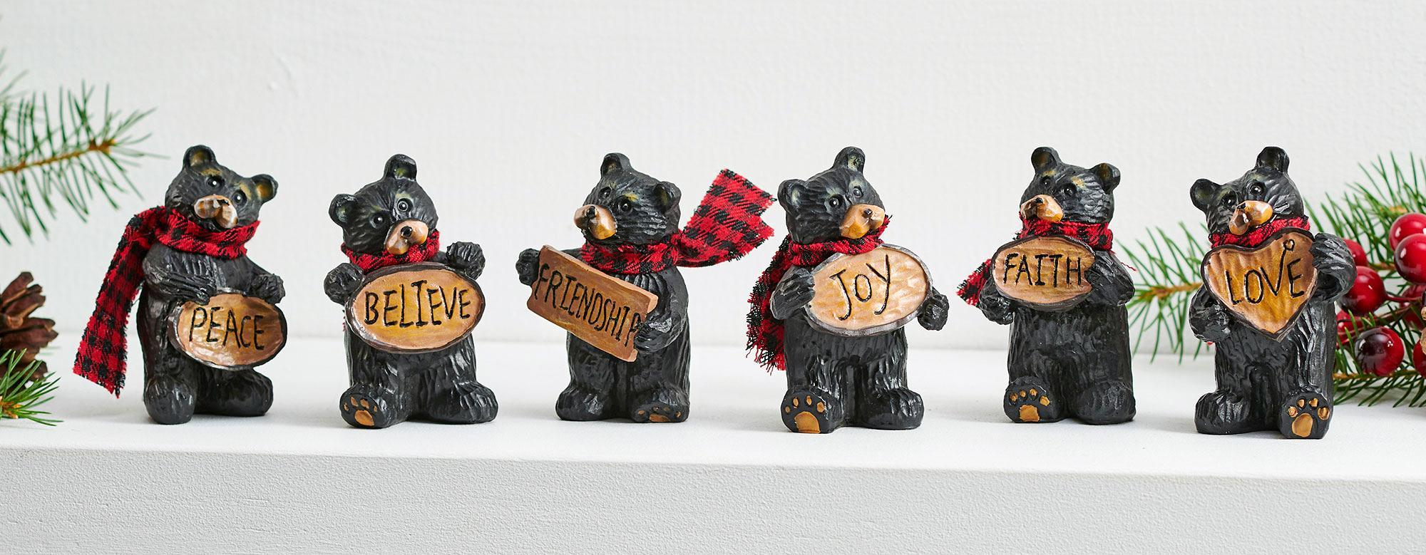 Holiday Cheer Bear Figurines