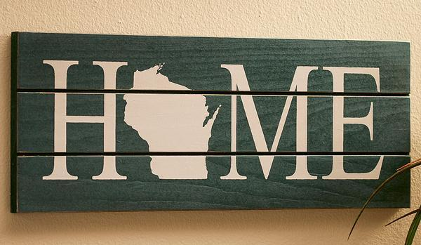 Home State Personalized Wood Sign