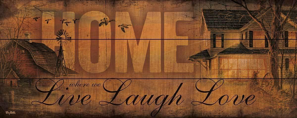 <I>Home</i> 12 X 30 Wood Sign