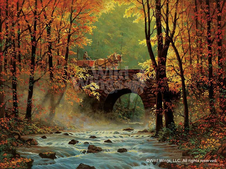 Autumn Bridge Art Collection