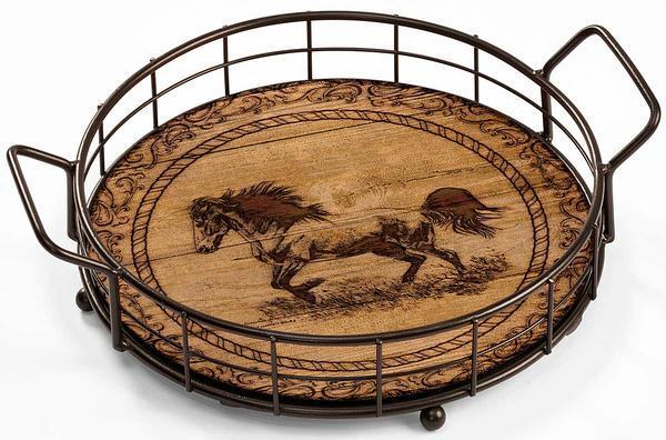 <I>Distant Thunder&mdash;horse</i> Serving Tray