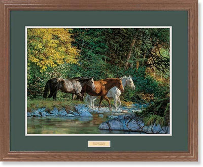 <I>Bear Creek Crossing&mdash;horses</i> Gna Premium Framed Print<Br/>25H X 31W Art Collection