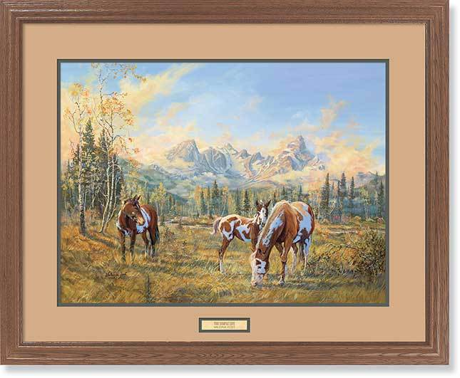 <I>The Simple Life&mdash;horses</i> Gna Premium Framed Print<Br/>25H X 31W Art Collection