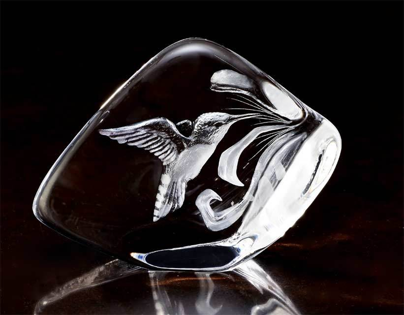 Hummingbird Crystal Sculpture