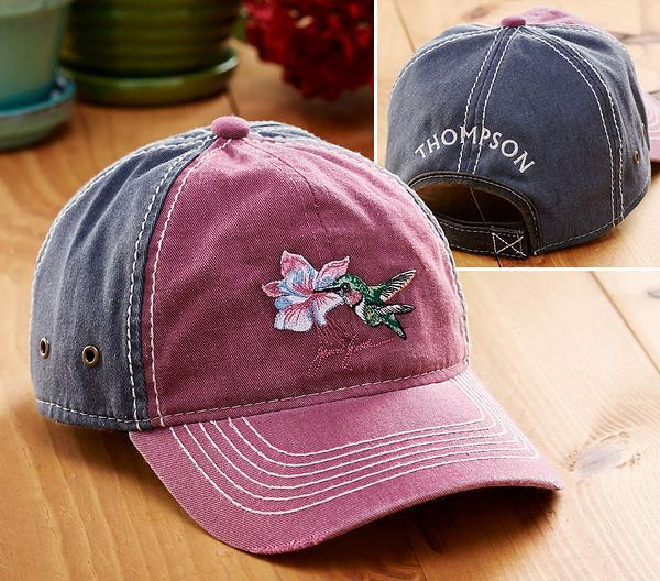 <I>Hummingbird</i> Personalized Cap