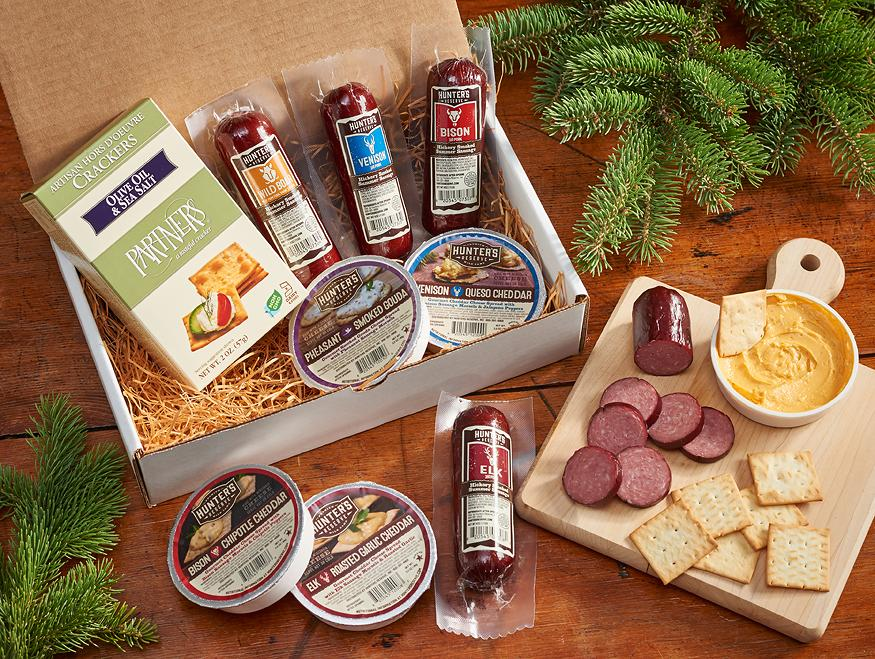 Sausage Cheese & Crackers Gift Box