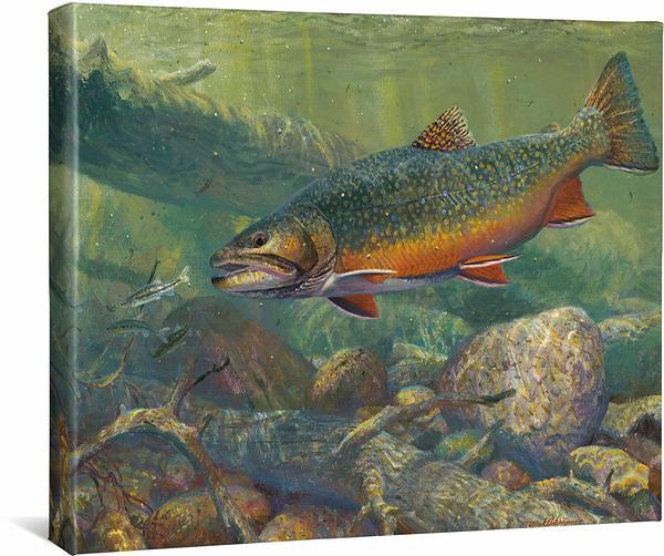 <I>Hunting The Hunters&mdash;brook Trout</i> Gallery Wrapped Canvas