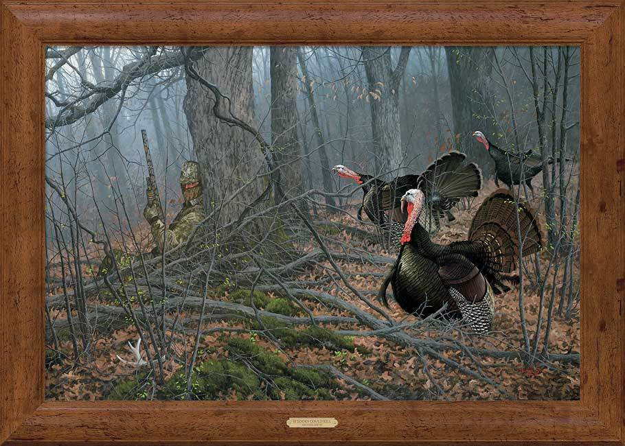 If Looks Could Kill—turkey Hunter Framed Gallery Canvas