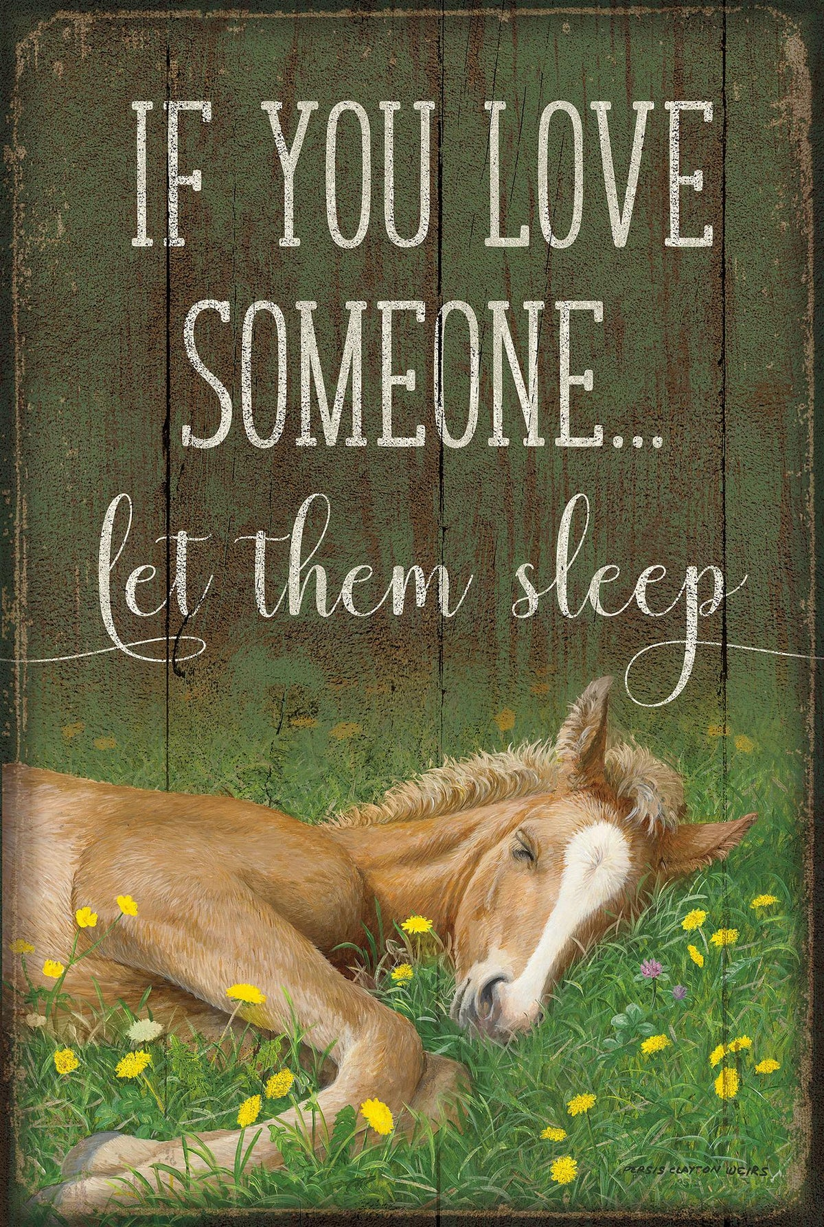 "Let the Sleep-Horse 12"" x 18"" Wood Sign"