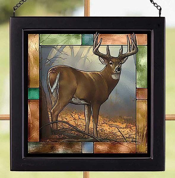 <I>In Prime&mdash;whitetail Deer</i> Stained Glass Art
