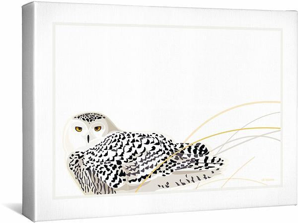 <I>In The Stillness&mdash;snowy Owl</i> Gallery Wrapped Canvas