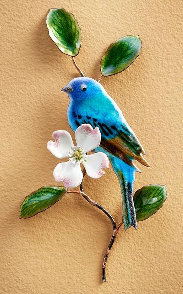 Indigo Bunting on Dogwood