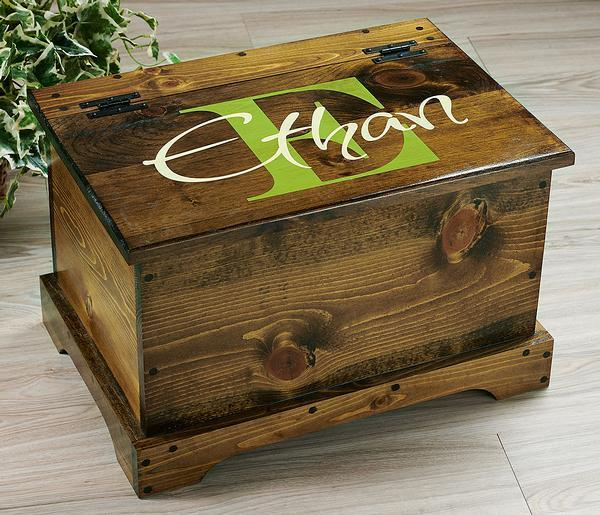 Celery Green Monogram Personalized Trunk